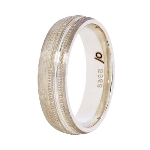Argentium wedding band-with milgrain (6mm)